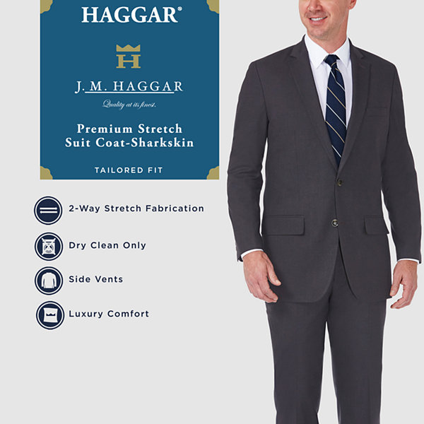 JM Haggar Suit Coat Stretch Tailored Fit Suit Jacket