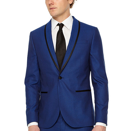 JF J.Ferrar Mens Stretch Slim Fit Tuxedo Jacket
