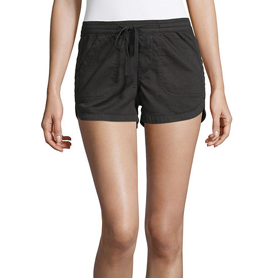 Unionbay Womens Low Rise Pull-On Short-Juniors