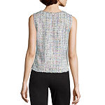 Worthington Womens Round Neck Sleeveless Shells