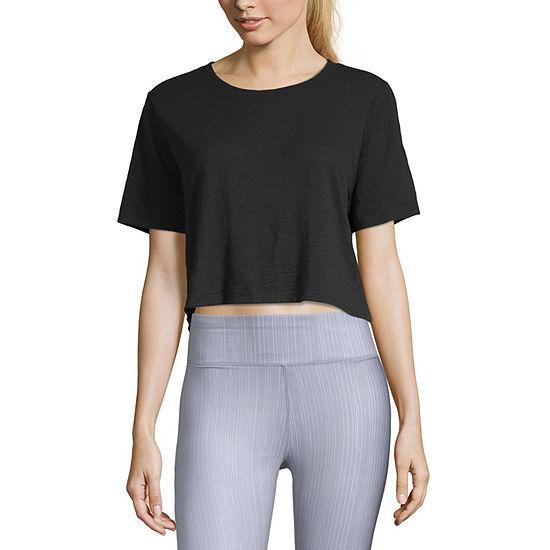 Xersion-Womens Round Neck Short Sleeve T-Shirt
