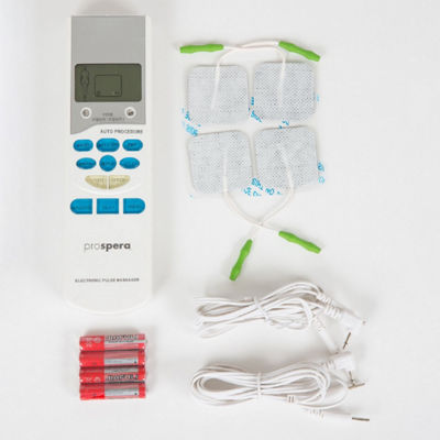 PL009-EV Prospera 10-Speed FDA Approved Tens Unit Electronic Pulse Massager 8-Pads Pain Relief LCD Display