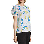 Worthington Puff Shoulder Crew Top - Tall