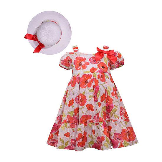Bonnie Jean Girls Short Sleeve Dress Set - Toddler