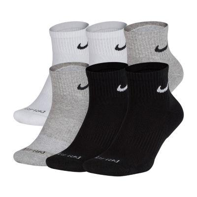 Nike 6 Pair Quarter Socks-Mens