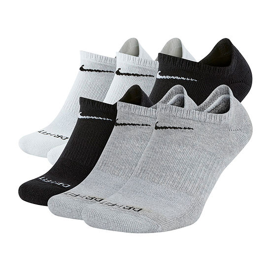 Nike 6 Pair No Show Socks-Mens