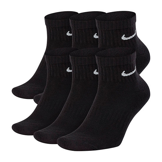 Nike 6 Pair Quarter Socks Mens