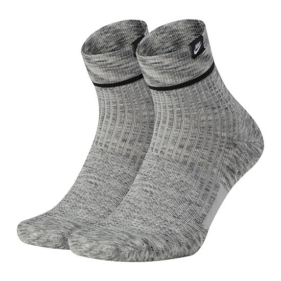 Nike 2 Pair Quarter Socks-Mens