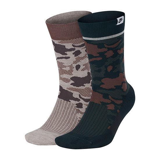Nike 2 Pair Crew Socks Mens