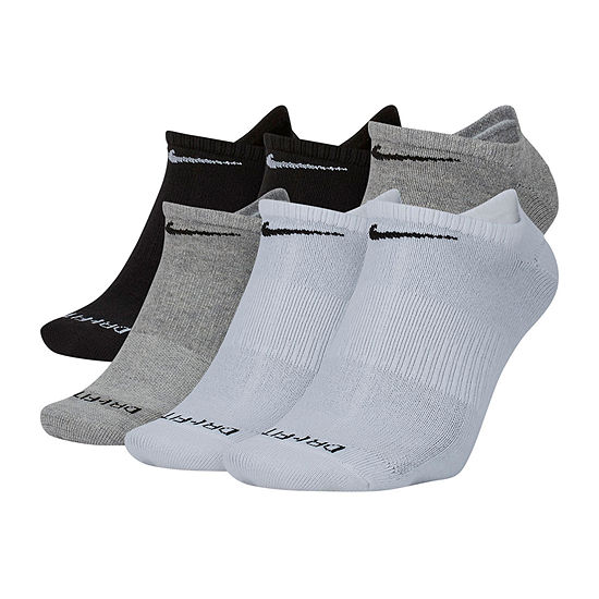 Nike 6 Pair No Show Socks-Mens