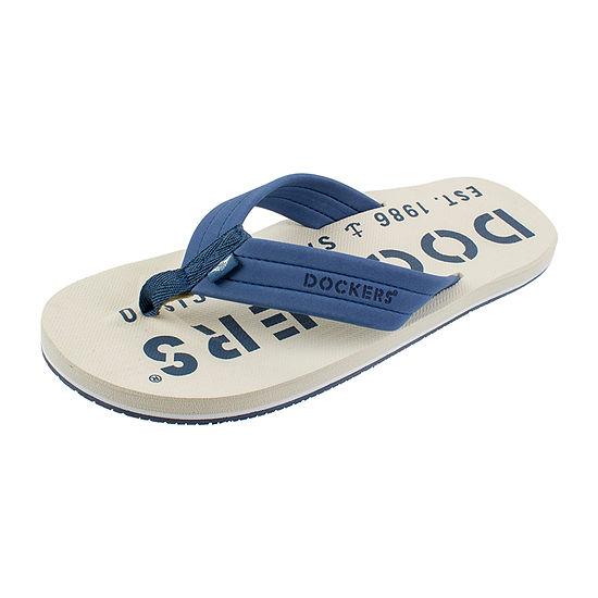 Dockers® Toe Bar Logo Flip-Flops