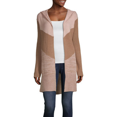 Say What Womens Long Sleeve Cardigan-Juniors