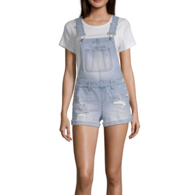 Blue Spice Sleeveless Shortalls-Juniors