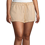Arizona Low Rise Soft Short- Juniors Plus