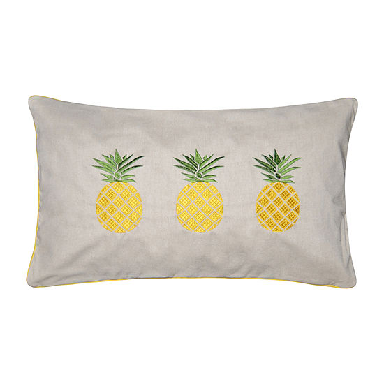 Pineapple Square Throw Pillow