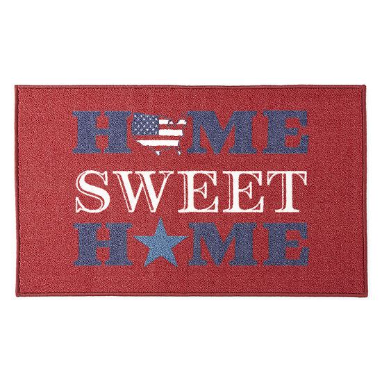 JCPenney Home Americana Home Sweet Home Rug