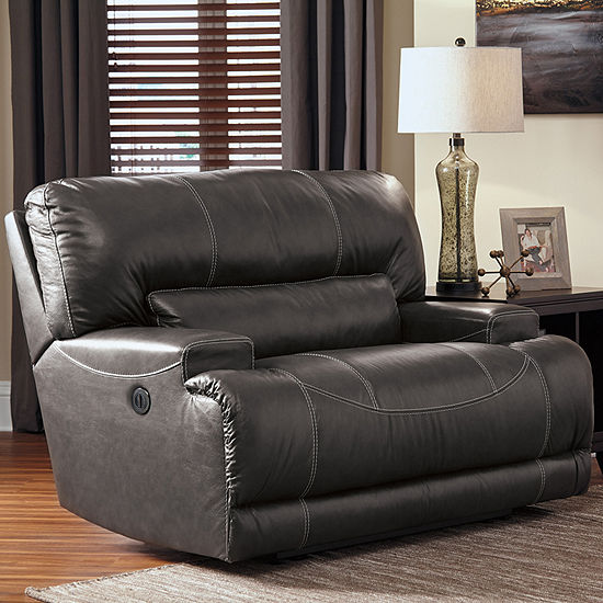 Signature Design By Ashley® Mccaskill Oversized Leather Power Recliner