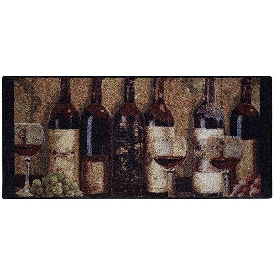 Wine Chateau Kitchen Rectangular Rug