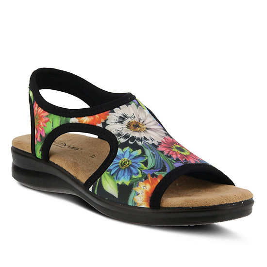 Flexus Womens Nyaman-Bouquet Flat Sandals