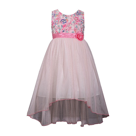 Bonnie Jean Girls Sleeveless High-Low Party Dress
