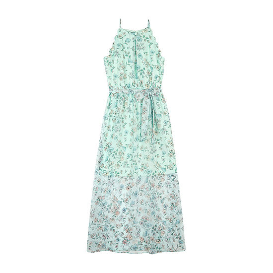by&by girl Girls Sleeveless Floral Maxi Dress - Big Kid