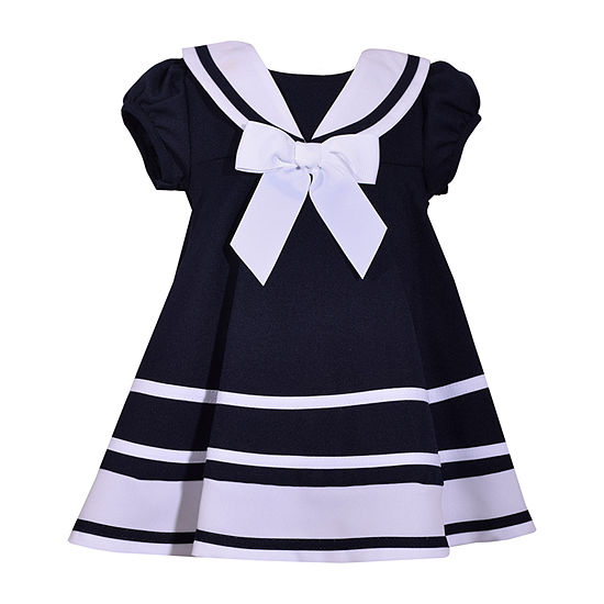 Bonnie Jean Baby Girls Short Sleeve A-Line Dress