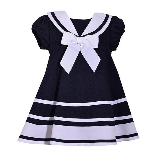Bonnie Jean Baby Girls Short Sleeve A-Line Dress