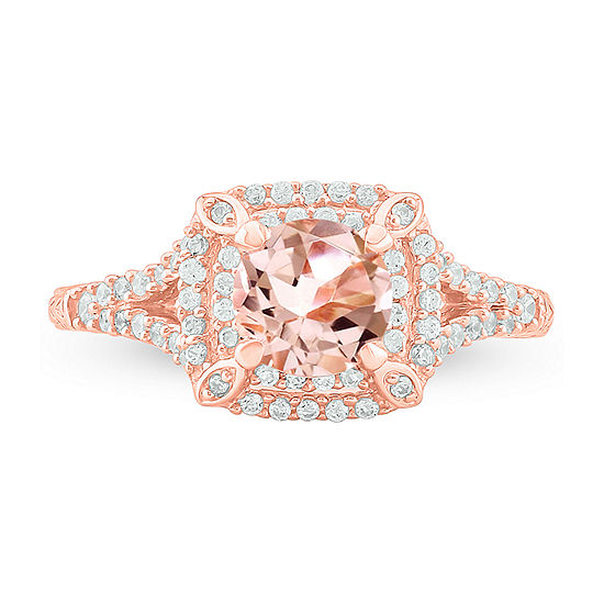 Womens 1/3 CT. T.W. Genuine Pink Morganite 10K Gold Cocktail Ring