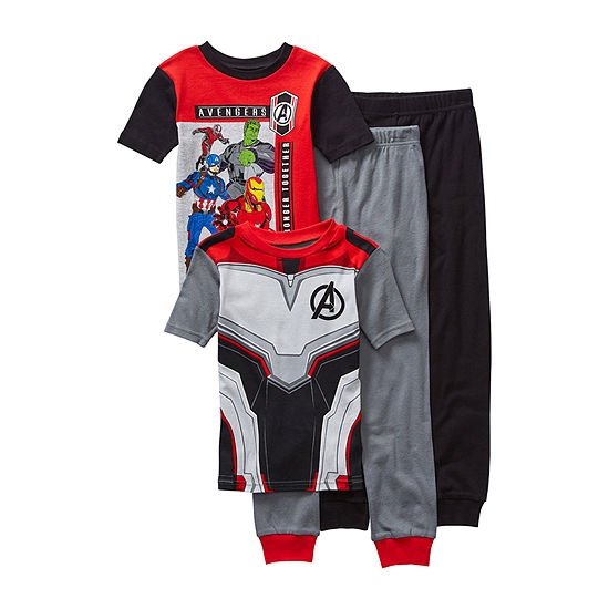 Disney Collection Little Kid / Big Kid Boys 4-pc. Avengers Pajama Set