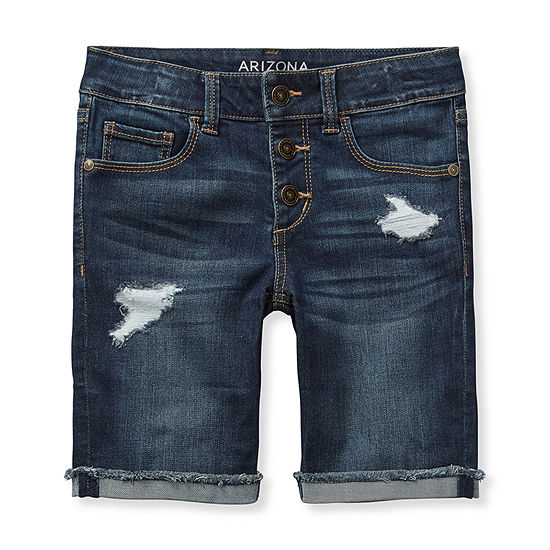 Arizona Girls Adjustable Waist Bermuda Short