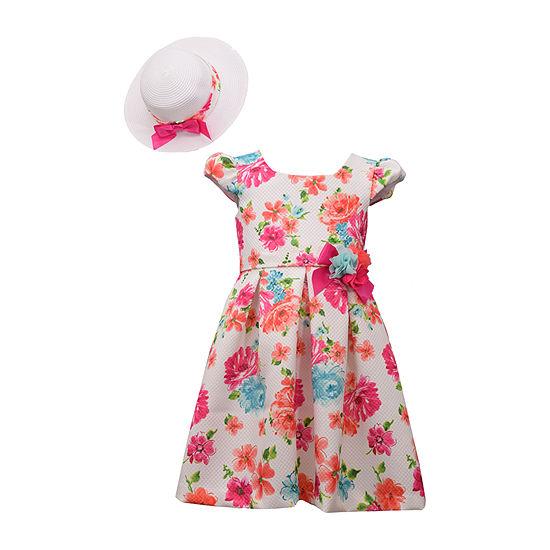 Bonnie Jean - Little Kid / Big Kid Girls Short Sleeve Cap Sleeve Dress Set