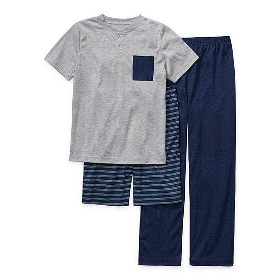 Arizona Little Kid / Big Kid Boys 3-pc. Pajama Set