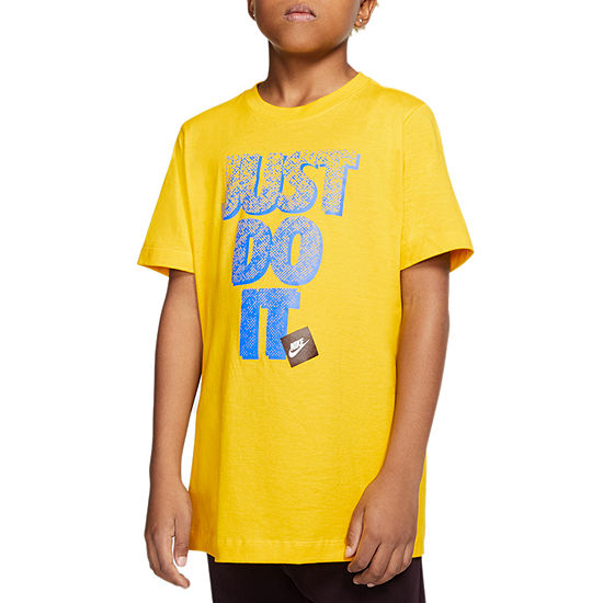 Nike - Big Kid Boys Crew Neck Short Sleeve Graphic T-Shirt