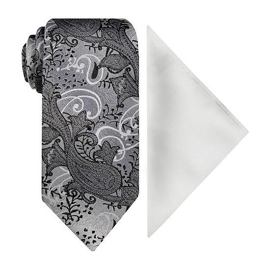 Steve Harvey Paisley Tie Set