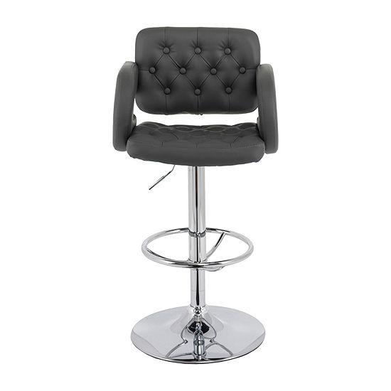 Corliving 2-pc. Upholstered Tufted Swivel Bar Stool