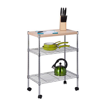 Honey Can Do Shelf Cart Color Silver Jcpenney