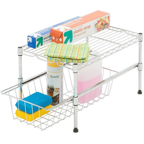 Honey-Can-Do Shelf With Basket