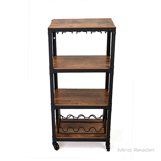 Mind Reader Wood-Top Kitchen Cart