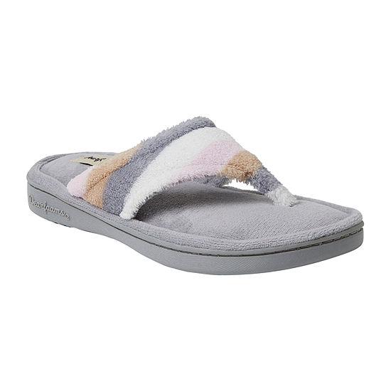 Dearfoams Womens Slip-On Slippers
