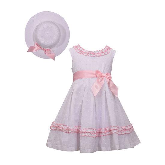 Bonnie Jean - Toddler Girls 2-pc. Sleeveless A-Line Dress
