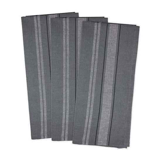 Design Imports French Stripe Woven 3-pc. Kitchen Towel