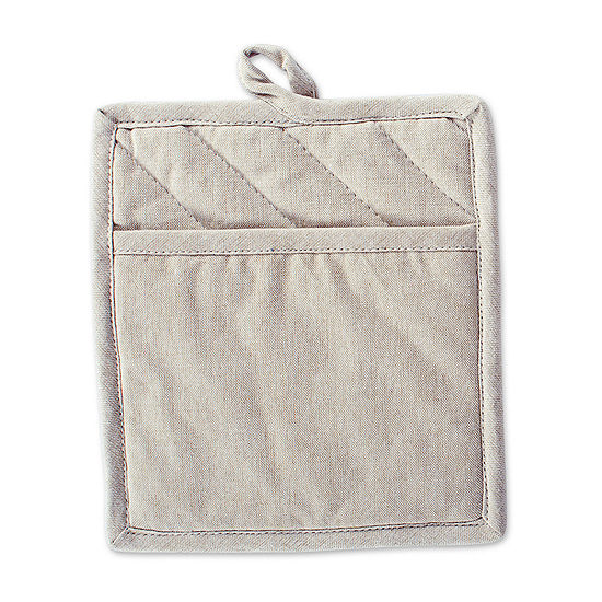 Design Imports Solid Chambray Kitchen 2-pc. Pot Holders