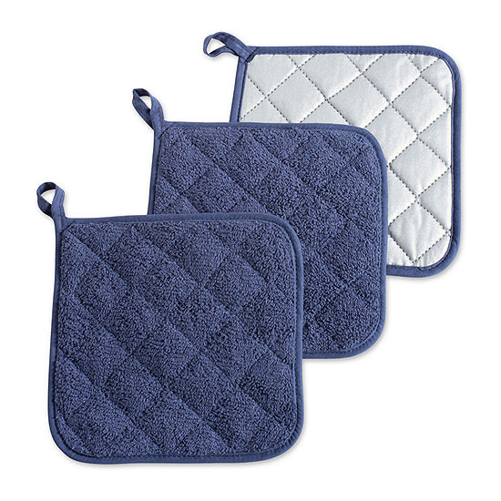 Design Imports Terry Kitchen 3-pc. Pot Holders