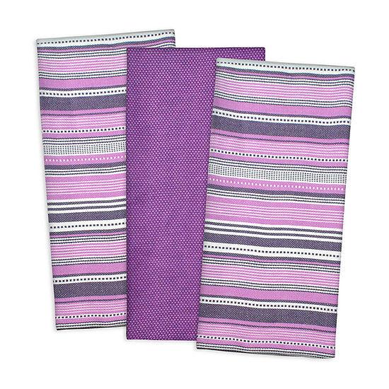 Design Imports Urban Stripe 3-pc. Kitchen Towel