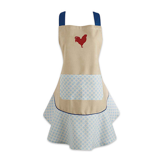 Design Imports Red Rooster Ruffle Apron