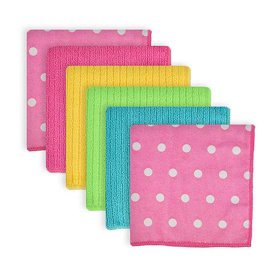 Design Imports Microfiber Dots 6-pc. Kitchen Towel