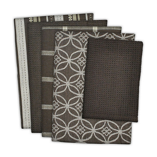 Design Imports Assorted 5-pc. Towels + Dish Cloths
