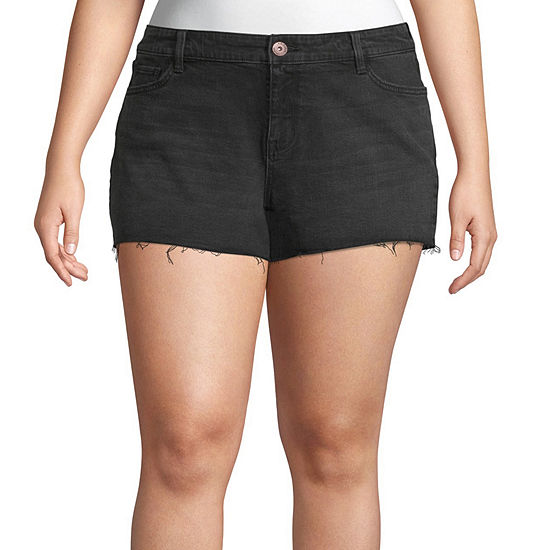 Arizona Womens Shortie Short-Juniors Plus