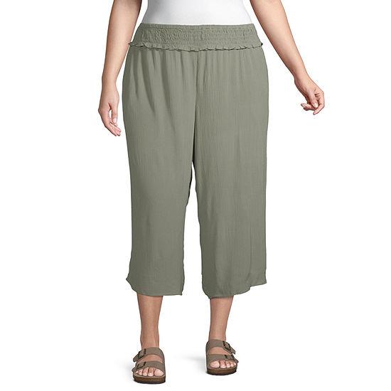 Arizona-Juniors Plus Womens Pull-On Pants