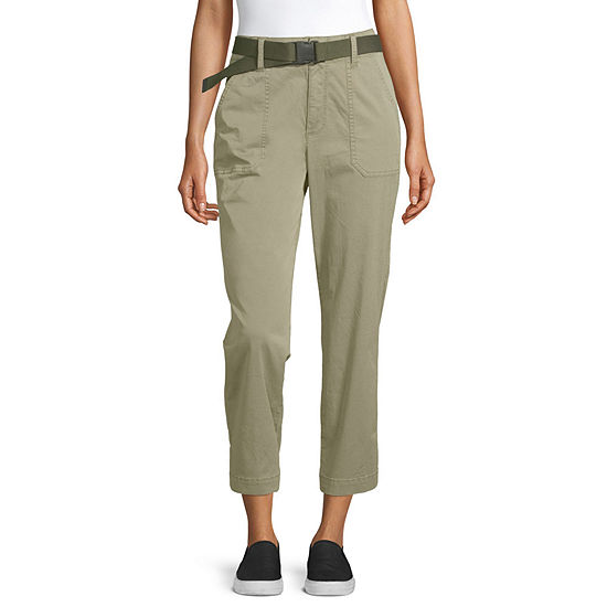 Arizona Womens Straight Cargo Pant-Juniors
